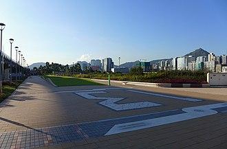 Kai Tak Development - Kai Tak Runway Park with its former runway number: 13