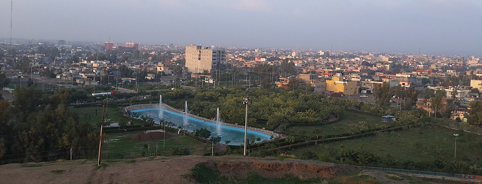 The view of Kalar from Sherwana Castle