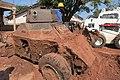 Kalemie, Province du Tanganyika, RD Congo - Partiellement enterrée, une automitrailleuse de type Ferret du bataillon malaysien l'ONUC.jpg