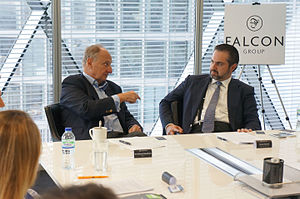 Richard Needham - Kamel Alzarka and the Falcon Group welcomed Sir Richard Needham to the 3rd Annual Trade and Corporate Finance Forum in London