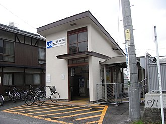 Kami-Yagi Station - Kabe Station building in July 2008