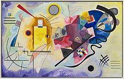 Wassily Kandinski: Yellow-Red-Blue