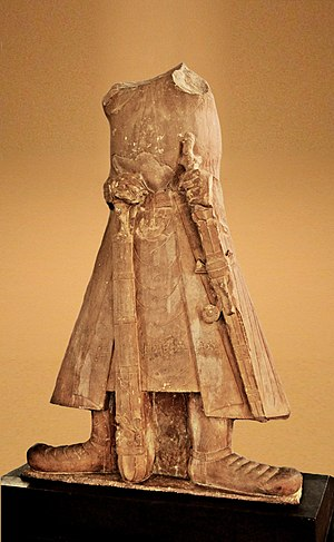 Mathura - Statue of Kanishka I, 2nd century CE, Mathura Museum.