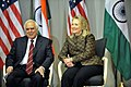 Kapil Sibal and the US Secretary of State, Ms. Hillary Clinton at the US India Higher Education Dialogue in Washington DC on June 12, 2012.jpg