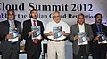 Kapil Sibal launching a report on 'The Indian Cloud Revolution', at the inauguration of the Cloud Summit 2012 – Enabling the Indian Cloud Revolution, in New Delhi on July 04, 2012.jpg