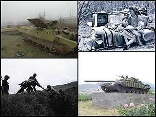 Nagorno-Karabakh War armed conflict that took place in the late 1980s to May 1994