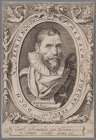 Karel van Mander - Portrait of Karel van Mander from his book