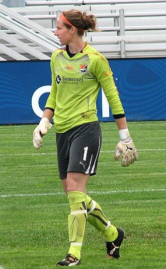 Karen Bardsley - Bardsley guarding the Sky Blue net