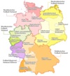 Map of state football associations in Germany