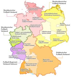 Southern German Football Association - DFB, its five regional and 21 state associations