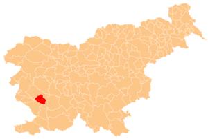 Municipality of Vipava - Image: Karte Vipava si