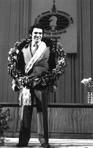Garry Kasparov - Kasparov after winning the FIDE World Championship title in 1985