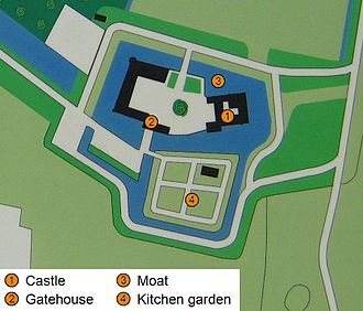 Water castle - Plan of Doorwerth Castle (Gelderland, the Netherlands)