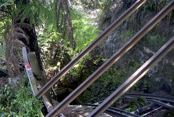 Katoomba Scenic Railway descending to the valley floor