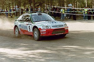 Kenneth Eriksson - Eriksson with a Hyundai Accent WRC at the 2001 Rally Finland.