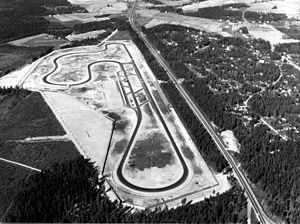 Keimola Motor Stadium - Aerial photograph from 1966.