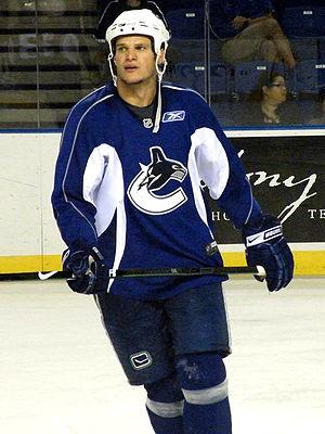 Kevin Bieksa - Bieksa skates at a Canucks practice