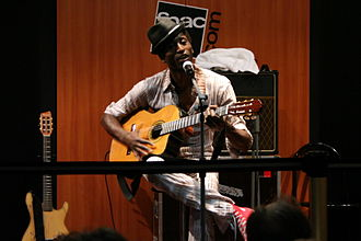 Keziah Jones - Unplugged concert in Strasbourg, France, September 2008