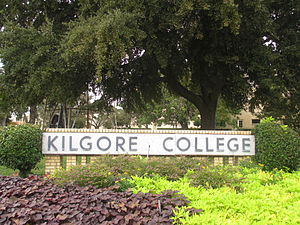 Kilgore College - Image: Kilgore College welcoming sign IMG 5915