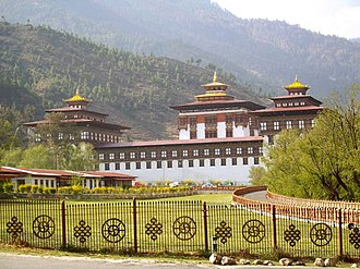 Dzongpen - Tashichho Dzong, administrative center of Thimphu