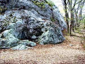 History of Rhode Island - King Philip's Seat, an Indian meeting place on Mount Hope, (Rhode Island)
