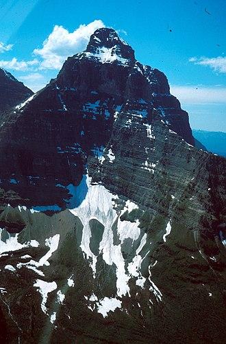 Pyramidal peak - Kinnerly Peak in Glacier National Park in the U.S. state of Montana