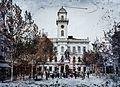 Klapka György tér, a Városháza előtt Klapka György szobra (Rónai József, 1896.). Fortepan 86637.jpg