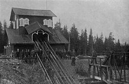 Komministerminen ved Stribergs miner omkring 1900