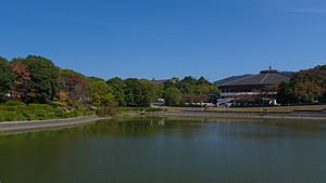 Konoike and Nara Central gymnasium 20141002.jpg