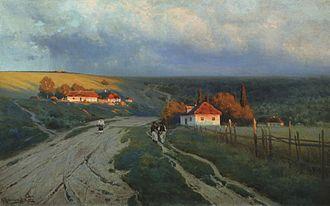 Konstantin Kryzhitsky - Image: Konstantin Kryzhitsky Vecher Na Ukraine 1901