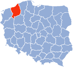 Koszalin Voivodeship - Image: Koszalin Voivodship 1975