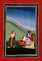 Krishna playing hide and seek with two female companions. Go Wellcome V0045226.jpg