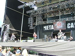 Krypteria beim Metalcamp 2007