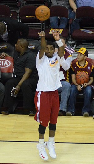 Kyrie Irving - Irving during warmups in 2012
