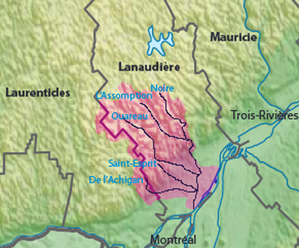 L'Assomption River - Image: L'Assomption River Map