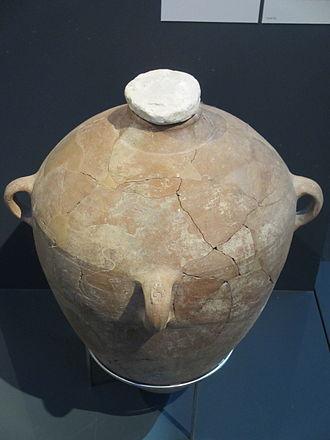 LMLK seal - LMLK jar on display, Israel Museum