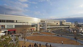 Tachihi Station - The Lalaport Tachikawa Tachihi shopping mall in December 2015
