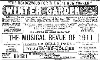 La Belle Paree - Newspaper ad for the show