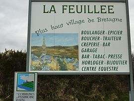 La Feuillée, the highest village in Brittany