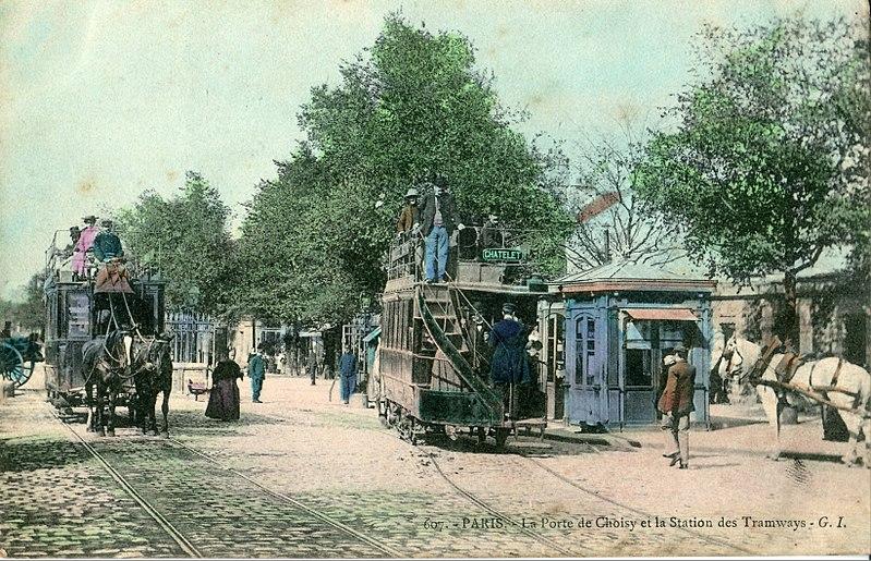 Fichier:La Porte de Choisy et la Station des Tramways.JPG