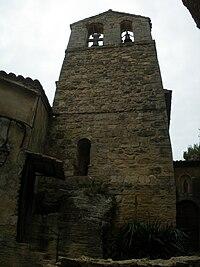 La Roque - le clocher de l'église.JPG