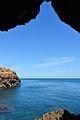 La mar des de l'interior de la cova Tallada.JPG