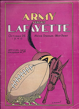 Lafayette Leopards football -  Lafayette upset Army 19–0 at West Point and was compared to Notre Dame the following week en route to an undefeated season. It is Lafayette's only win against Army.