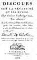 Laffon de Ladebat - Sur la nécessité de détruire l'esclavage dans les colonies (page de titre), Bordeaux, 25-08-1788.png
