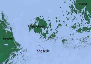 Lågskär - Image: Lagskar locator