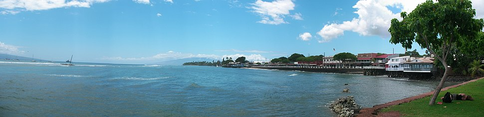Lahaina waterfront panorama