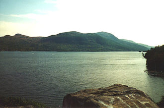 Battle of Sabbath Day Point - View of Lake George from Sabbath Day Point