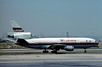Laker Airways - McDonnell Douglas DC-10-10 in 1976