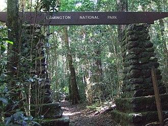 Lamington National Park - Entrance to the trail network at Binna Burra