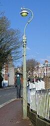 Lanterna kolono en 8 Parko-Rize de reĝino, la Parko de Queen, Brajtono (NHLE-Kodo 1380781).JPG